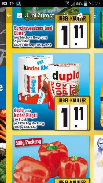 [Lokal Edeka Ingolstadt] Kinder Riegel/Duplo für 1,11€