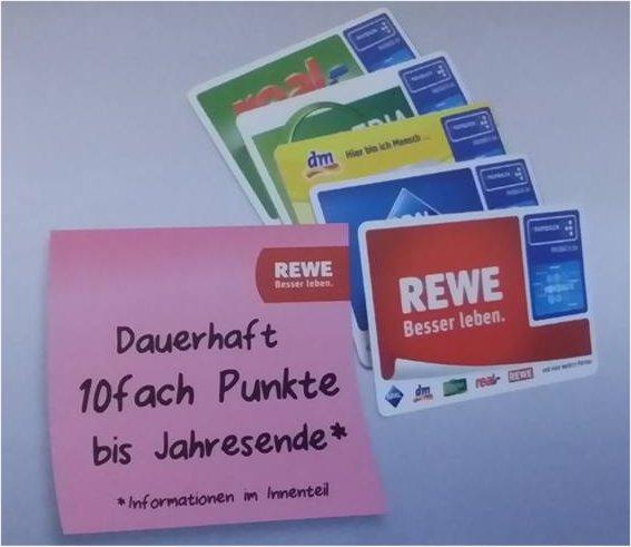Deal für REWE Payback Kunden: Dauerhaft 10fach Punkte bis Jahresende