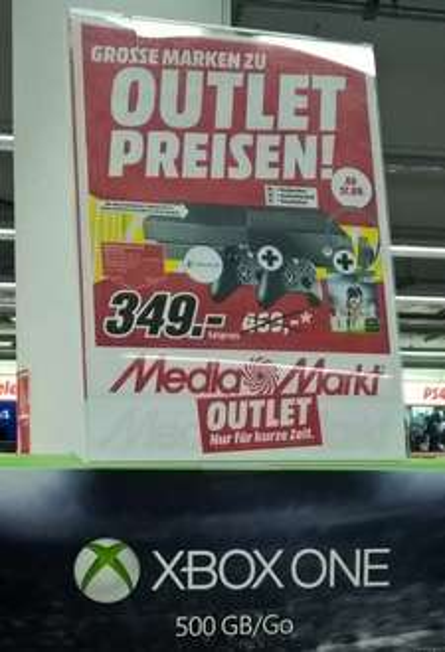 [Lokal? Media Markt München-Haidhausen] Xbox One 500 GB, FIFA 16, 2 Controller, Headset