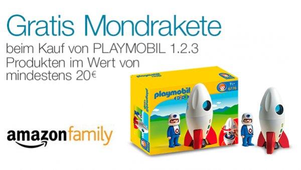 [amazon] [prime] [family] Playmobil 123 Mondrakete gratis beim Kauf ab 20€
