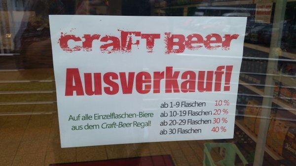 [Rentzelstrasse 36 in Hamburg] CraftBeer Ausverkauf!