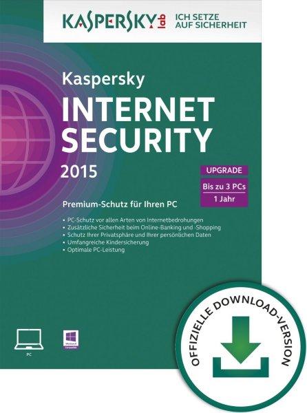 Kaspersky Internet Security 2015 / 2016 Multi 3PC / 1 Jahr