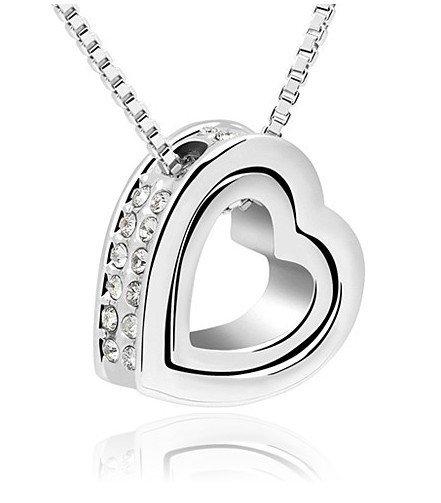 Pendant Heart in Heart - Swarovski Elements 10,99 € statt 75,- €