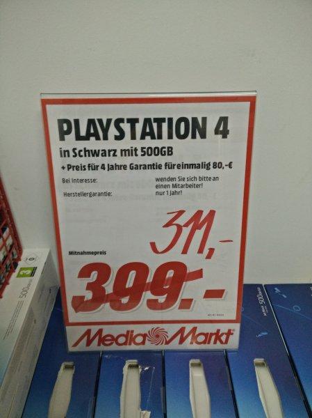 [lokal Berlin] Playstation 4 500gb 311€, Dualshock 4 45€ @ Mediamarkt Alexanderplatz