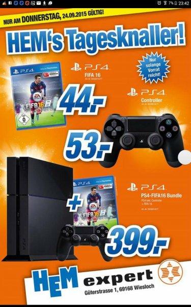 [Lokal] HEM Wiesloch - Fifa 16 für die PS4 für unschlagbare 44€ - nur am Donnerstag