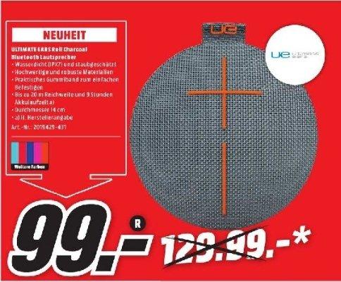 [Lokal Mediamarkt Bochum] Ultimate Ears UE ROLL Bluetooth Lautsprecher alle Farben für je 99,-€