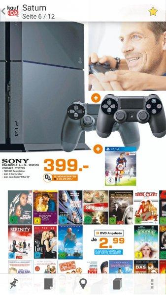SATURN HAMBURG PS4 500gb Fifa 16 + 2 Controller