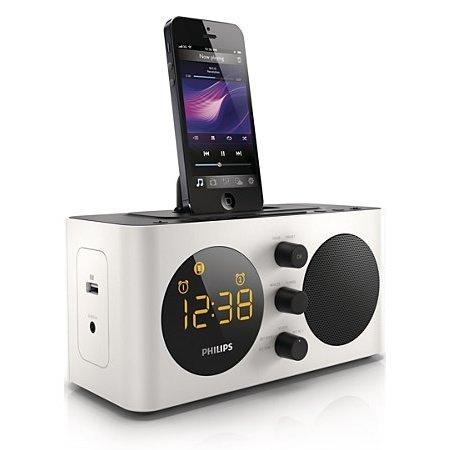 Philips AJ6200D/12 - Uhrenradio mit Lightning-Dock Aussteller