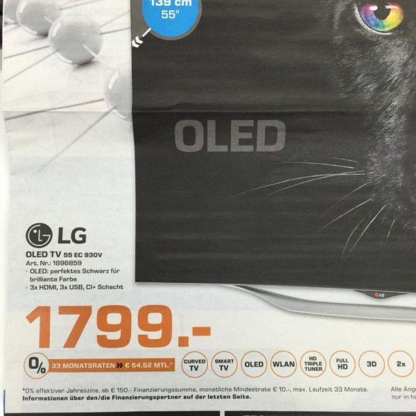 3 D LG OLED TV 55 EC 930V