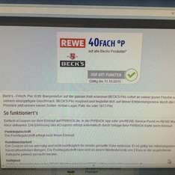 @Rewe: Beck's Kiste für 10,99 EUR plus 40-fache Payback Punkte = 8,99 EUR