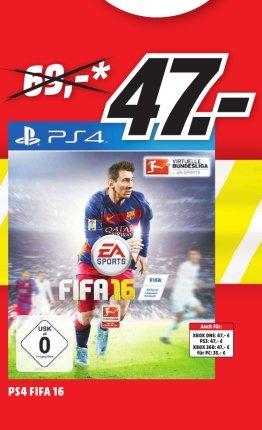 [Lokal Mediamarkt Stade] FIFA 16 (PS4,XBO,Xbox 360 und PS3) für je 47,-€