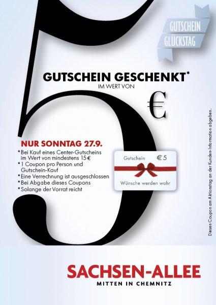 [lokal Chemnitz] Sachsen-Allee am Sonntag, 27.09: 20€ Gutscheine für 15,50€