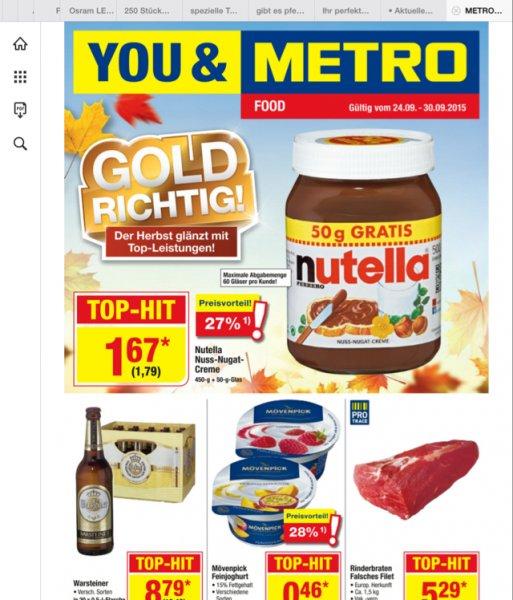 Beim Metro Großmarkt gibt es Nutella