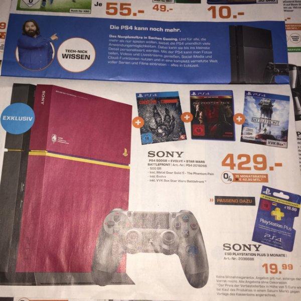 PS4 Metal Gear Solid 5 Edition + 2 Spiele Saturn BERLIN