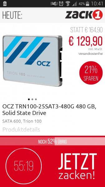 [ZackOne App] OCZ Trion 100 480GB SSD für 129,90€ (3-Jahre ShieldPlus Garantie)