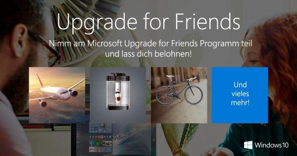 Gratis Hörbuch von Audible, Xing Premium und mit etwas Glück Flug nach Redmond bei Windows 10 Upgrade.