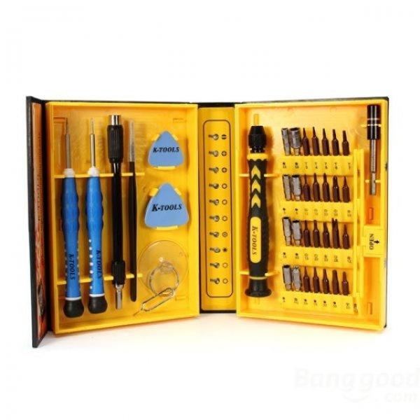 K-Tools 38 in 1 Multifunktion Werkzeug, Schraubendreher Set für PC Reparatur (allbuy)