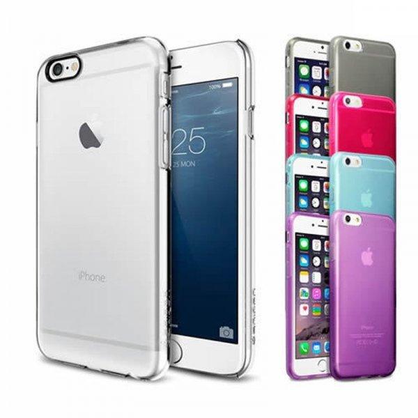 iPhone 6 / iPhone 6 Plus TPU Hülle (verschiedene Farben & transparent) inkl. Displayschutzfolie / Versand aus DE