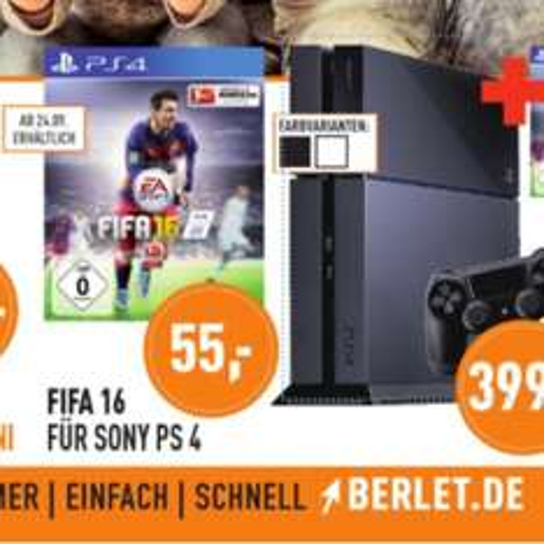 [Lokal Herne / Dortmund evtl. Umkreis] FIFA 16 PS4 bei Berlet Elektrofachmärkte