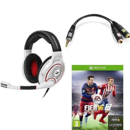 Sennheiser G4ME One Headset weiß + FIFA 16 (Xbox One oder PC) ab 135,84 € @Amazon.fr
