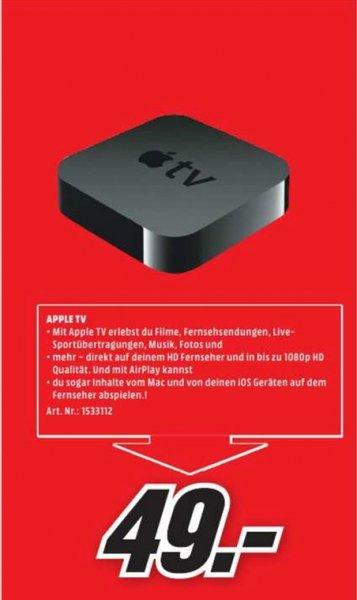 [Lokal Mediamarkt Weiterstadt] Apple TV - 3rd generation - Digitaler Multimedia-Receiver für 49,-€