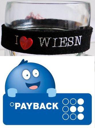 In München Theresienhöhe zwischen 2 und 6 Uhr gratis Maßkrugmarkierung von Payback abholen