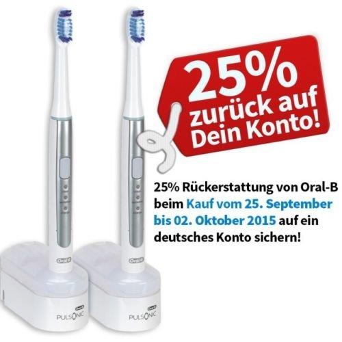 Oral-B Pulsonic Slim Duopack für effektiv 52,49 € -> eine also 26,25 € (idealo 44,99€!)