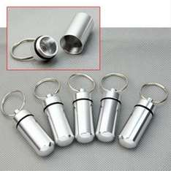 (CN) 5x Pillendose für Schlüsselbund / Geocaching Nano/Micro Versteck (Wasserdicht durch Gummi im Rand) für umgerechnet ca. 2,46€ @ Ebay (Oder 43 Cent @ Aliexpress)
