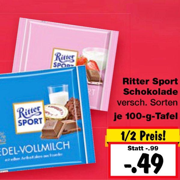 Ritter Sport 49 CENT für 100g, die gesamte Woche im Ruhrgebiet bei [Kaufland]