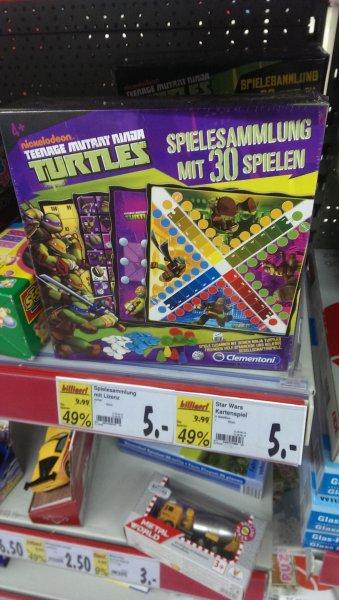 (lokal Hof Kaufland/moschendorf) Clementoni 69332.0 - Ninja Turtles - Spielesammlung, 30 Spielvarianten