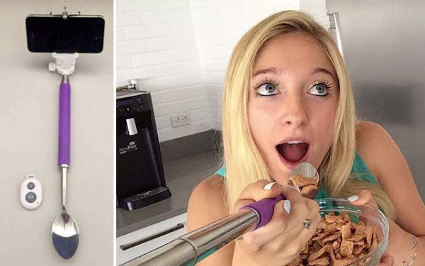 Selfiespoon GRATIS (Selfiestick+Löffel) #selfiespoon