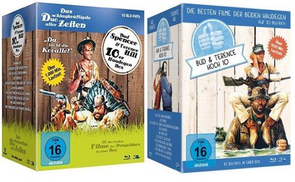 [MediaDealer Tagesangebot] Bud Spencer & Terence Hill - Hoch Zehn und Haudegen Box - 20 Filme (Blu-ray) für 71,68€ inc. Versand + Zweiohrküken Plüsch-Schlüsselanhänger als Geschenk