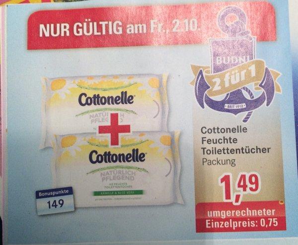 ( Budni Hamburg ) Superfriday 2 Pakete nehmen nur 1 bezahlen Cottonelle Feuchtes Toilettpapier 2 für 1.49.-