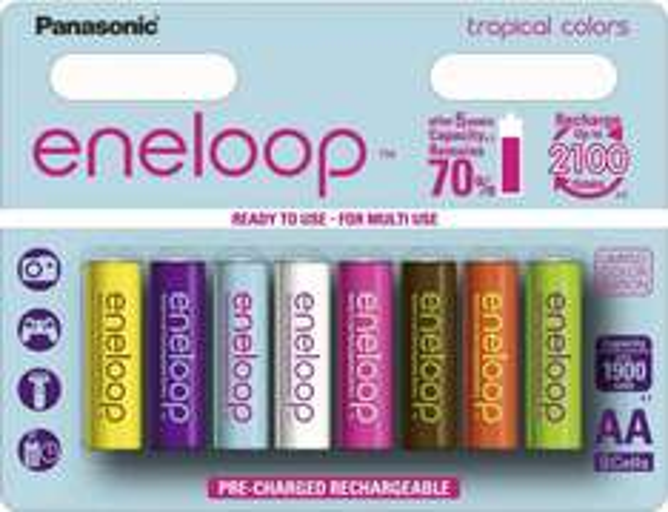 [Voelkner] 16x Panasonic Eneloop AA Tropical Limited Editon BK-3MCCE; 26,78€ mit Gutschein und Sofortüberweisung; 1,67€/Stück