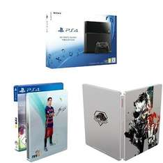 399 €PlayStation 4 1TB + FIFA 16 - Steelbook Edition + Metal Gear Solid V: The Phantom Pain - Steelbook Edition
