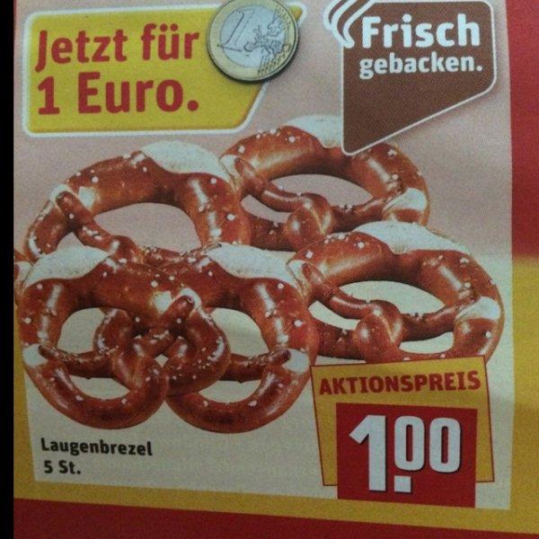[ Rewe ] 5 Laugenbrezeln 28.09. - 02.10 Frisch gebacken 25 Jahre Deutsche Einheit