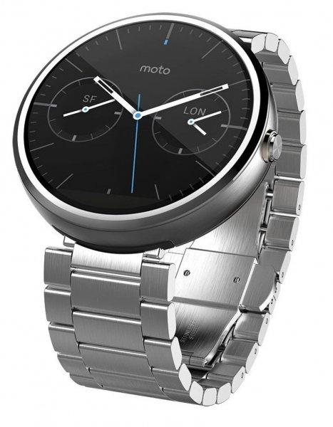 [Amazon.co.uk] Motorola Moto 360 Smartwatch - Metal Edition mit Edelstahlarmband - ab 150,75€