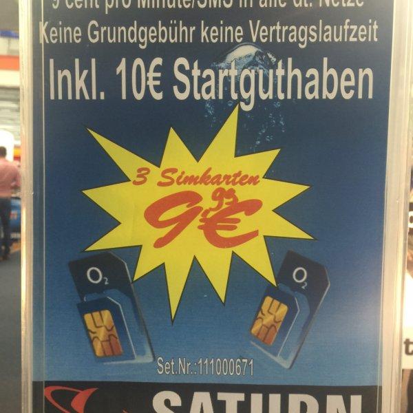 [Lokal] Mannheim Saturn 3x o2 Sim (für Psn nutzbar)