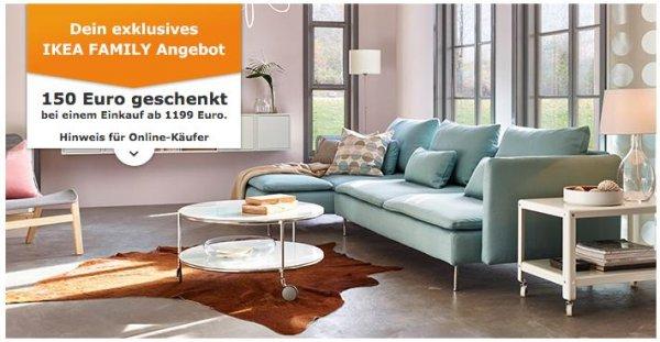 [IKEA Family] Sofaaktion – Aktionskarten erhalten bei Sofakauf – 75 € ab 699 €, 150 € ab 1199 € – bis 25.10.2015