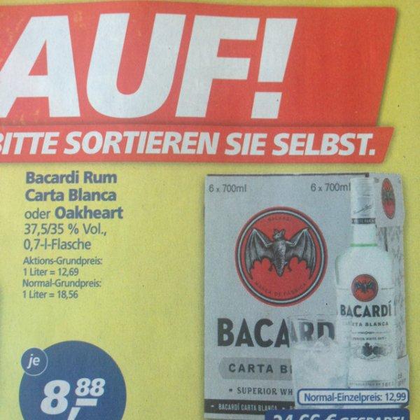 [Real]: Bacardi verschiedene Sorten 8,88 statt 12,99