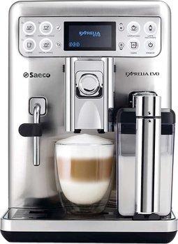 Saeco HD 8858/01 Exprelia Kaffeevollautomat (Edelstahl, Milchbehälter) Silber