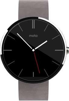 MOTOROLA Moto 360™ Smart Watch hell mit Lederarmband, Smart Watch @SATURN