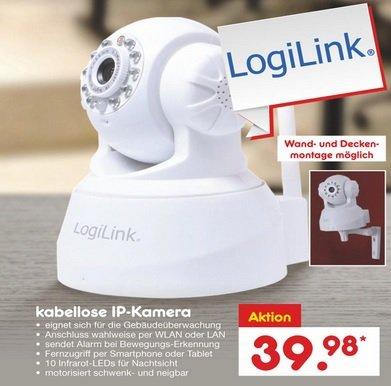 [Netto Bundesweit Offline] IP-Kamera LOGILINK Weiß WLAN Pan & Tilt IP Kamera