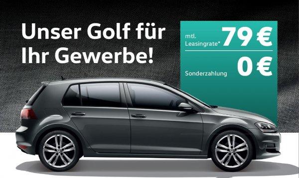 VW Geschäftsleasing GOLF 1.2TSI ohne Anzahlung 79€+MwSt.