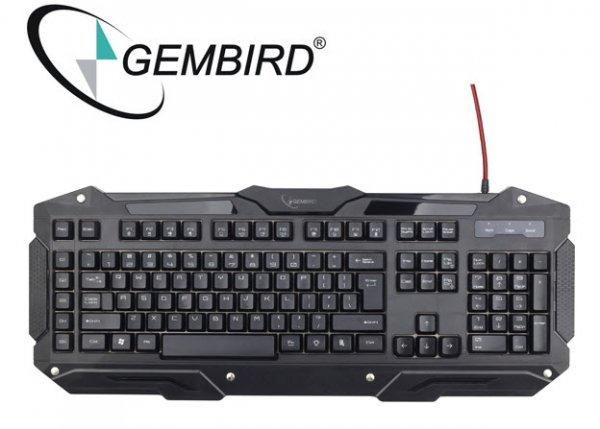 [One.de] Gembird Lightning Detonator programmierbare und beleuchtete Gaming Tastatur