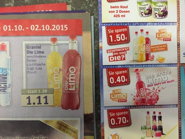 Granini - Die Limo im Combi Markt
