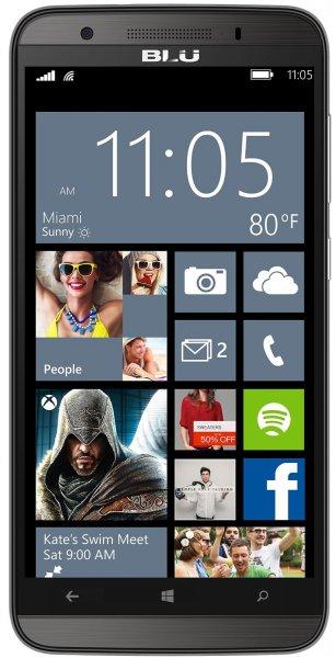 """BLU Windows HD LTE + Dual-Sim Smartphone (5"""" HD-Display, 4x 1.2 GHz, 1GB Ram, 8 GB Speicher (erweiterbar), 8MP Kamera, Windows 8.1 für 94,70 @Amazon.fr"""