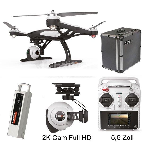 Yuneec Q500+ RTF Drohne mit 2 Akkus / Alukoffer / Steadygrip