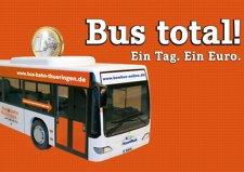 Thüringen/Oberfranken: Tageskarte BUS am 08.10.15 für 1,00 Euro