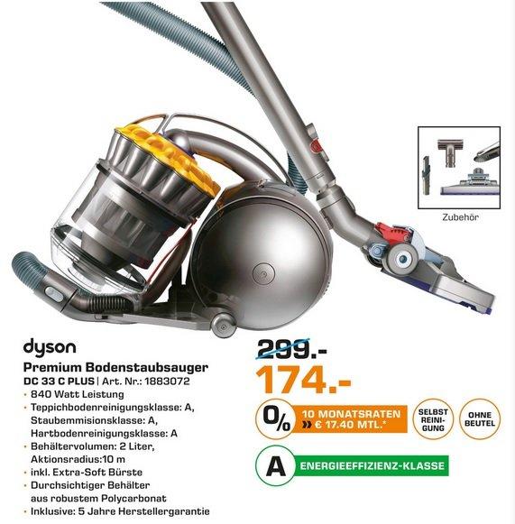 [Saturn Hannover] DYSON Bodenstaubsauger DC33c Plus  174€ statt 249€